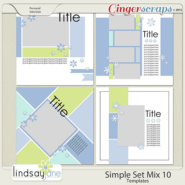 Simple Set Mix 10 Templates by Lindsay Jane