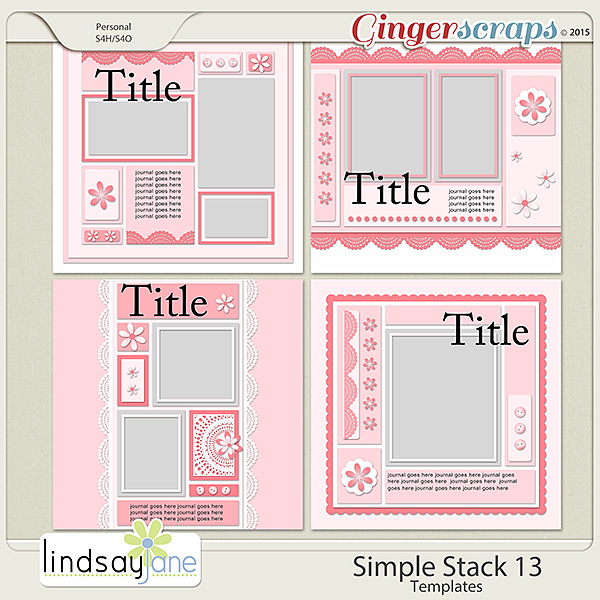 Simple Stack 13 Templates by Lindsay Jane