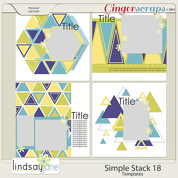 Simple Stack 18 Templates by Lindsay Jane