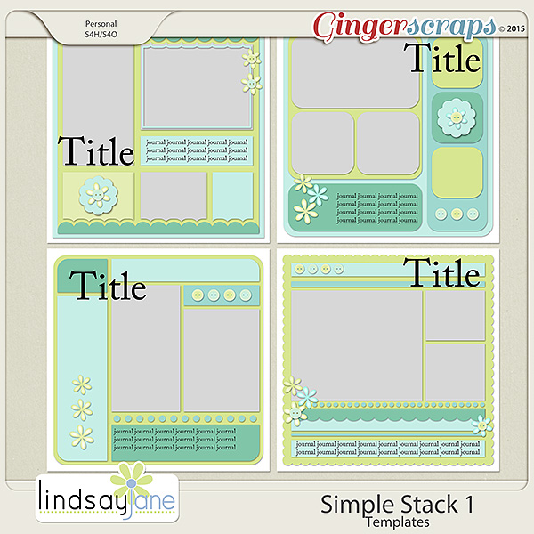 Simple Stack 1 Templates by Lindsay Jane