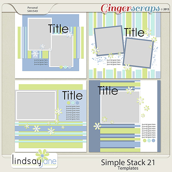 Simple Stack 21 Templates by Lindsay Jane