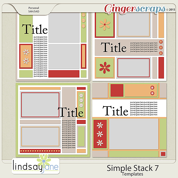 Simple Stack 7 Templates by Lindsay Jane