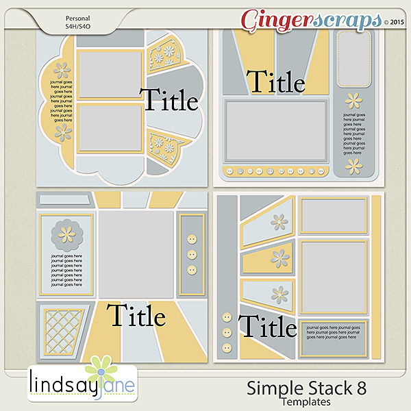 Simple Stack 8 Templates by Lindsay Jane