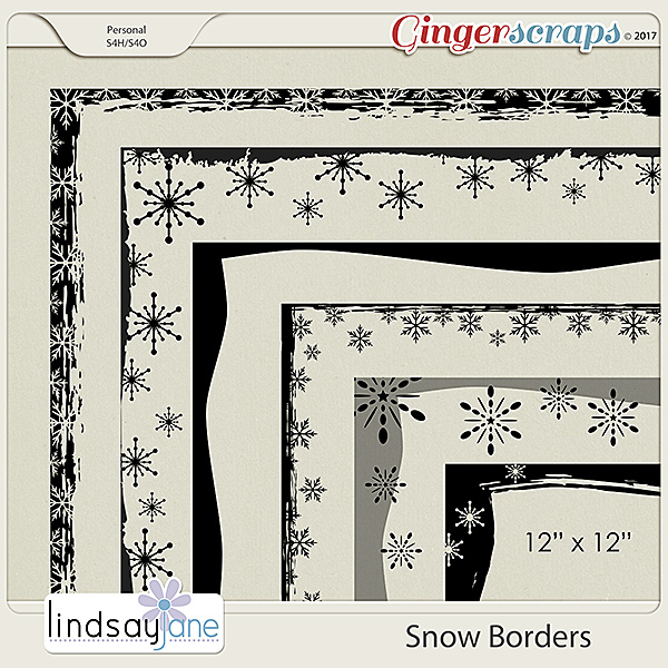 Snow Borders by Lindsay Jane