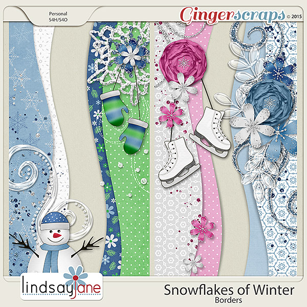 Snowflakes of Winter Borders by Lindsay Jane