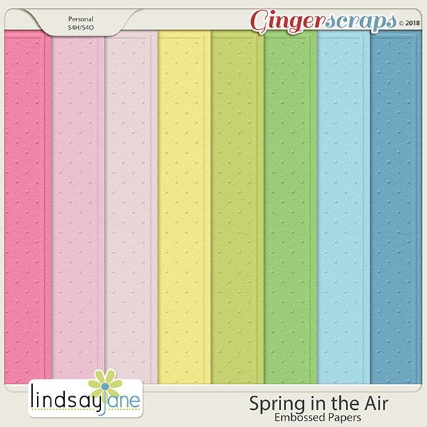Spring in the Air Embossed Papers by Lindsay Jane
