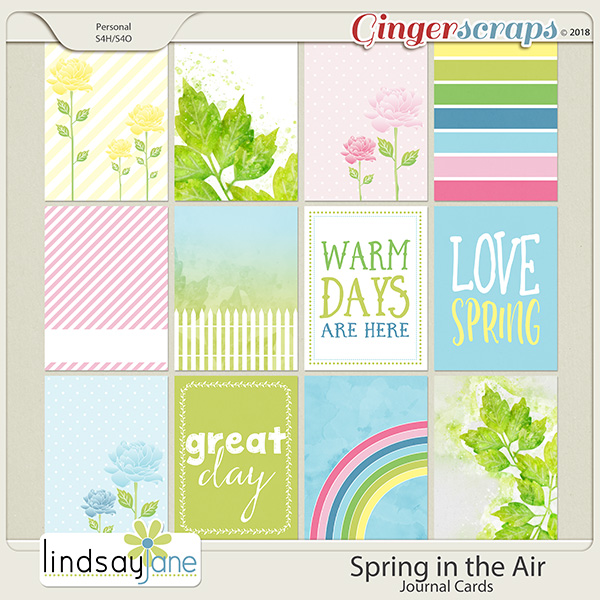 Spring in the Air Journal Cards by Lindsay Jane