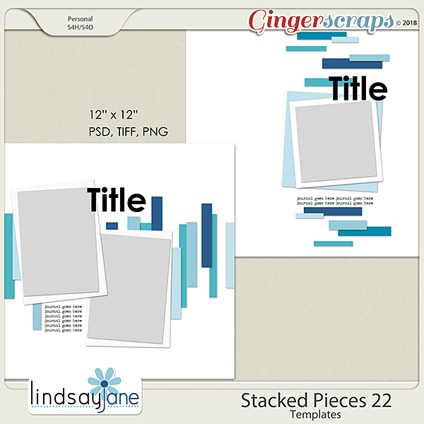 Stacked Pieces 22 Templates by Lindsay Jane