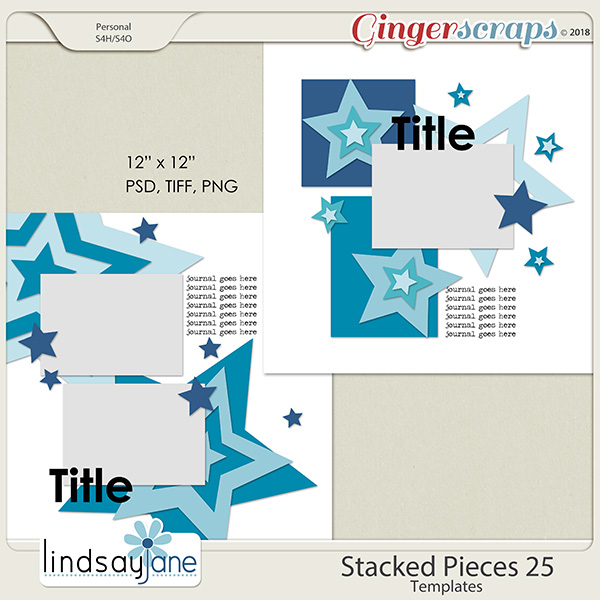 Stacked Pieces 25 Templates by Lindsay Jane