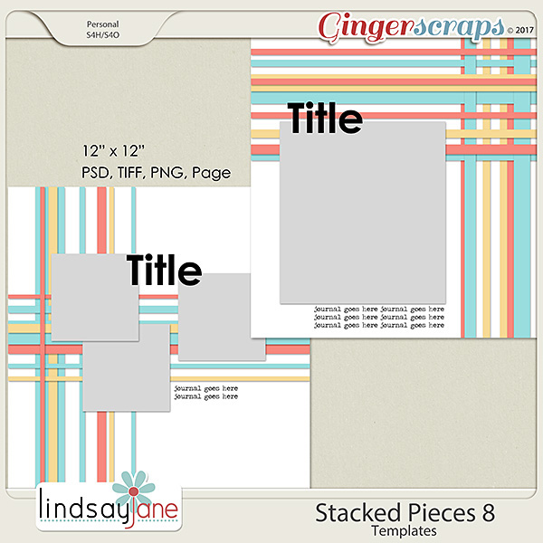 Stacked Pieces 8 Templates by Lindsay Jane