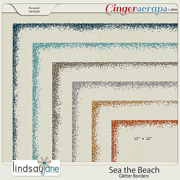 Sea the Beach Glitter Borders by Lindsay Jane