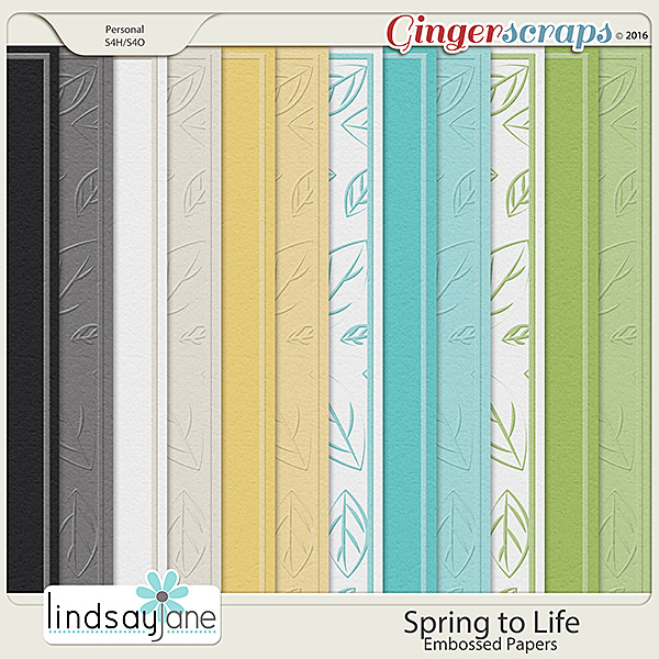Spring to Life Embossed Papers by Lindsay Jane