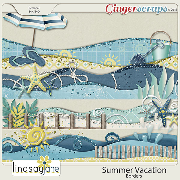 Summer Vacation Borders by Lindsay Jane