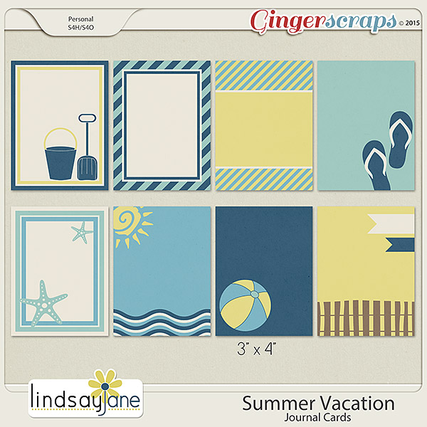 Summer Vacation Journal Cards by Lindsay Jane
