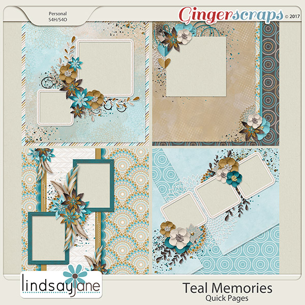 Teal Memories Quick Pages by Lindsay Jane