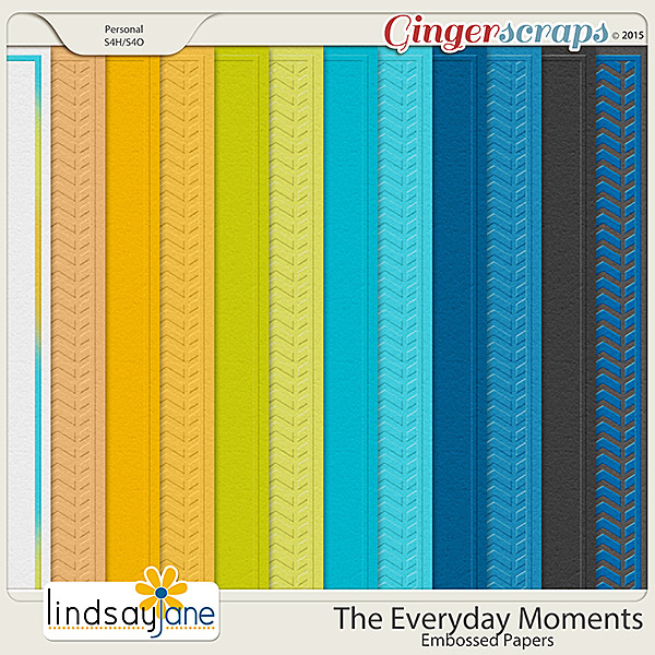 The Everyday Moments Embossed Papers by Lindsay Jane