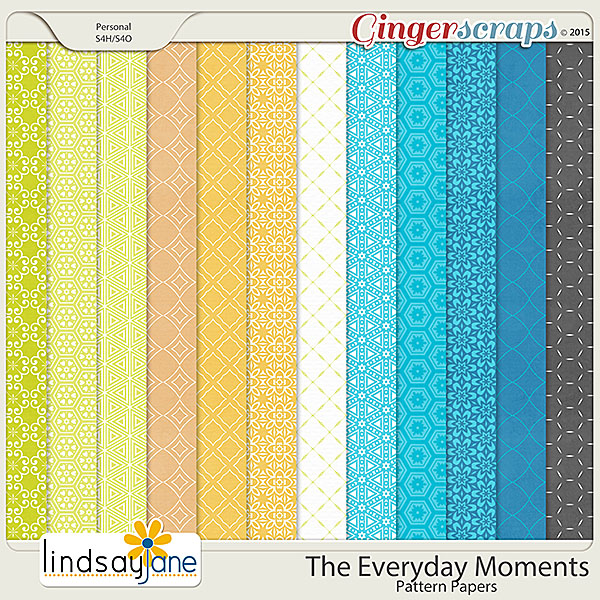 The Everyday Moments Pattern Papers by Lindsay Jane