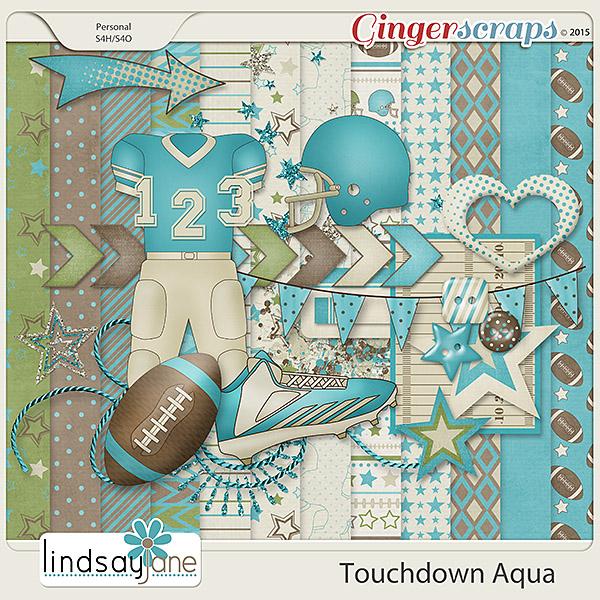 Touchdown Aqua by Lindsay Jane