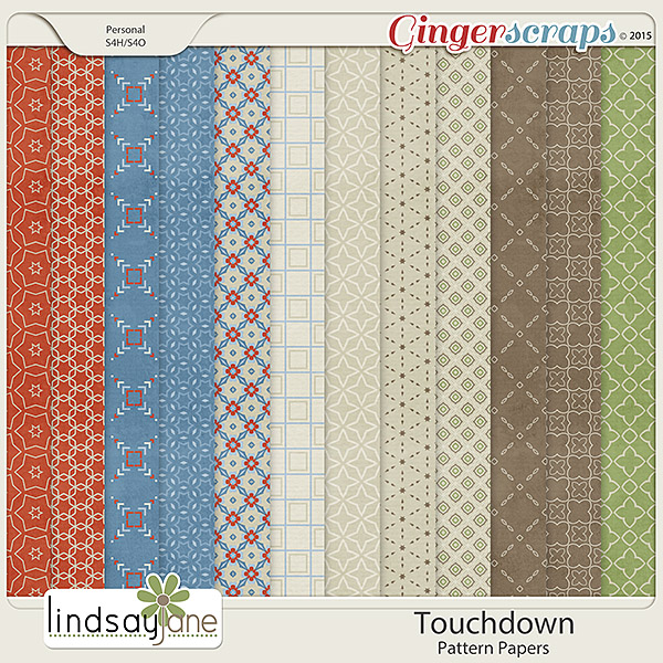 Touchdown Pattern Papers by Lindsay Jane