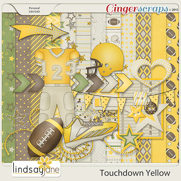 Touchdown Yellow by Lindsay Jane