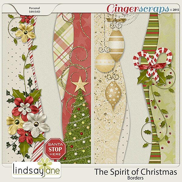 The Spirit of Christmas Borders by Lindsay Jane