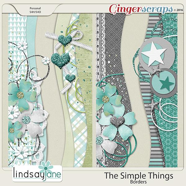 The Simple Things Borders by Lindsay Jane