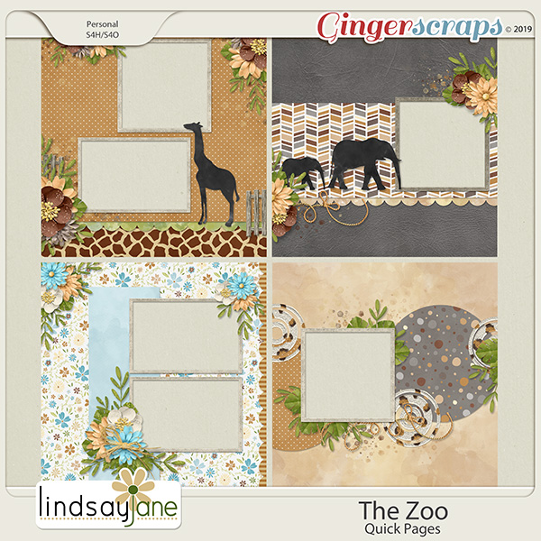 The Zoo Quick Pages by Lindsay Jane