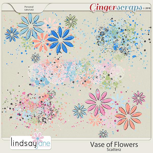 Vase of Flowers Scatterz by Lindsay Jane