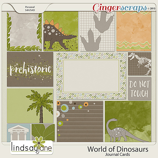 World of Dinosaurs Journal Cards by Lindsay Jane