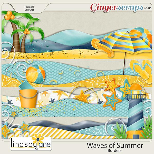 Waves of Summer Borders by Lindsay Jane