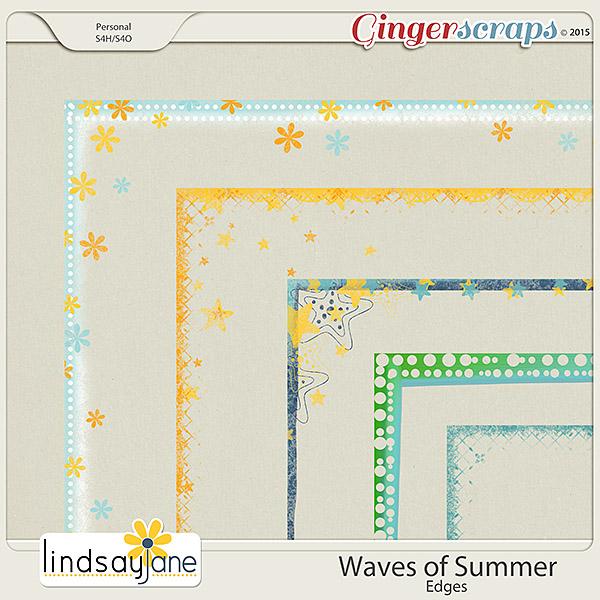 Waves of Summer Edges by Lindsay Jane