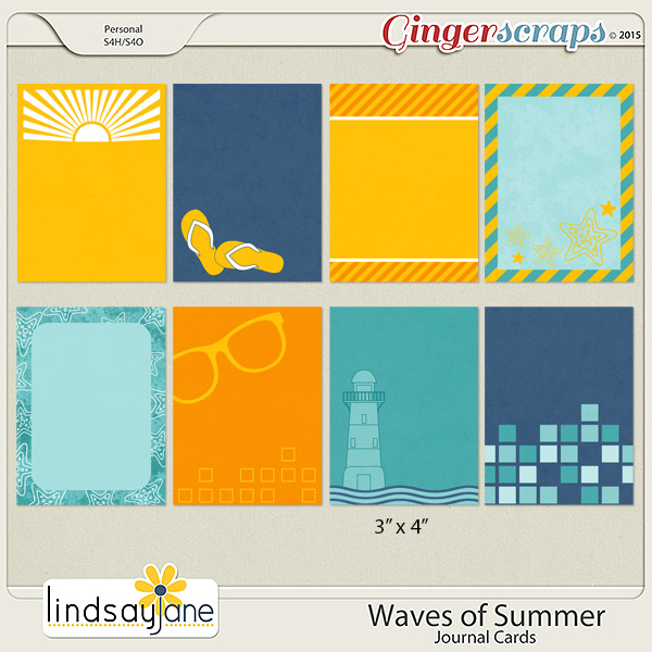 Waves of Summer Journal Cards by Lindsay Jane