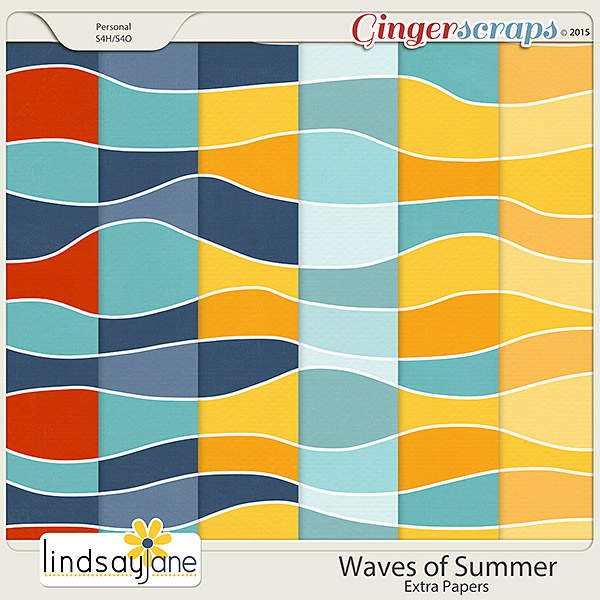 Waves of Summer Extra Papers by Lindsay Jane