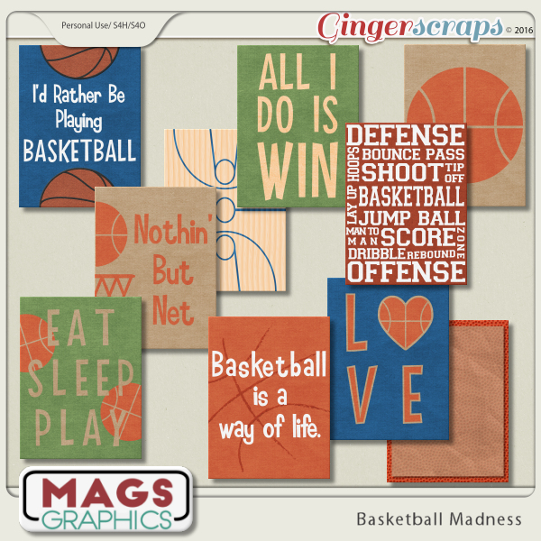 Basketball Madness JOURNAL CARDS