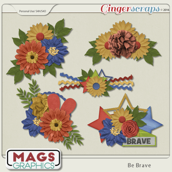 Be Brave CLUSTERS by MagsGraphics
