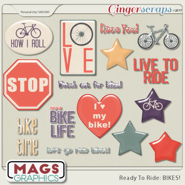 Ready To Ride Bikes STICKER PACK by MagsGraphics