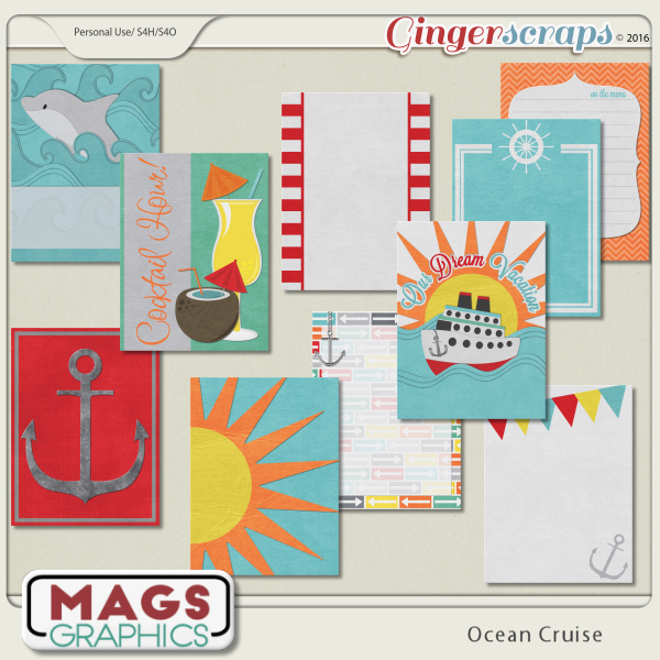 Ocean Cruise JOURNAL CARDS by MagsGraphics