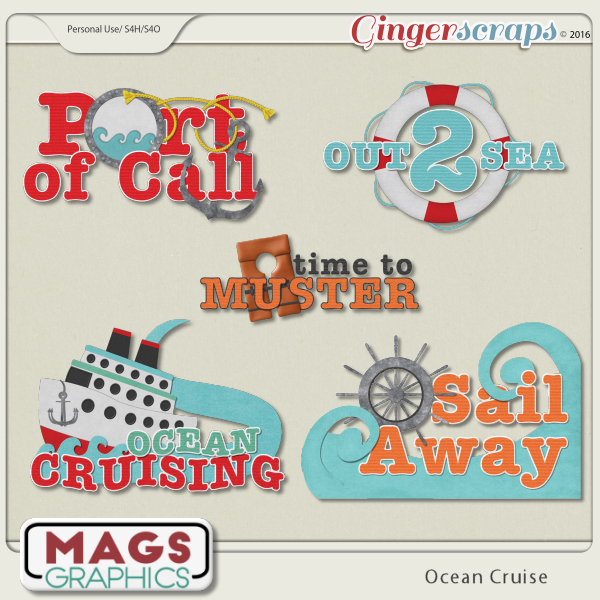 Ocean Cruise WORD ART by MagsGraphics
