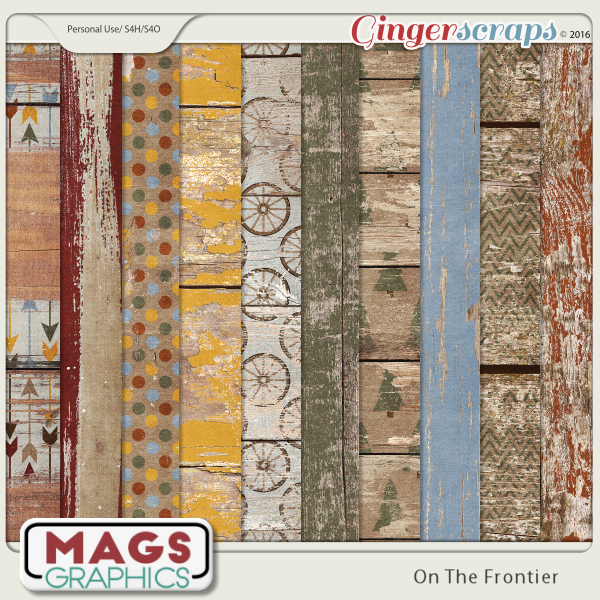 On The Frontier WOOD PAPERS by MagsGraphics