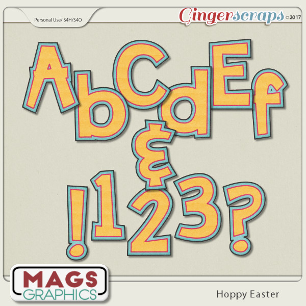Hoppy Easter ALPHA by MagsGraphics