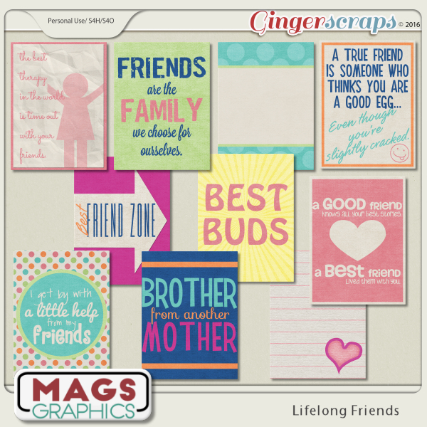 Lifelong Friends JOURNAL CARDS