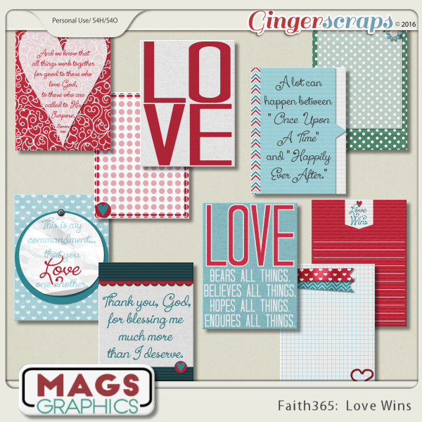 Faith365 Love Wins JOURNAL CARDS