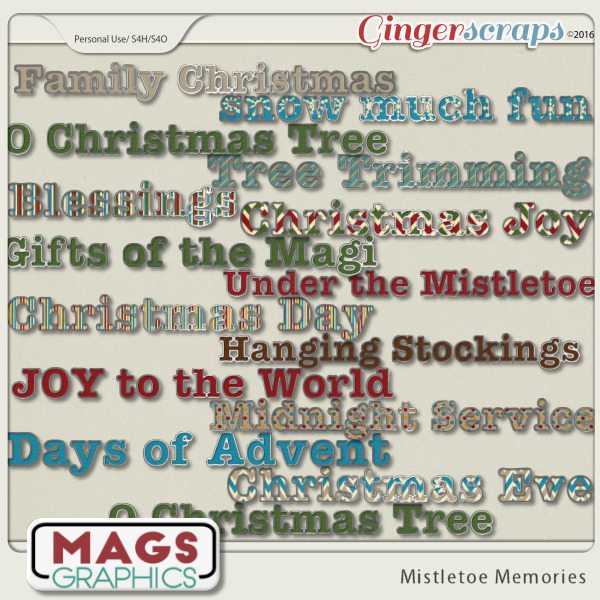 Mistletoe Memories TITLES by MagsGraphics