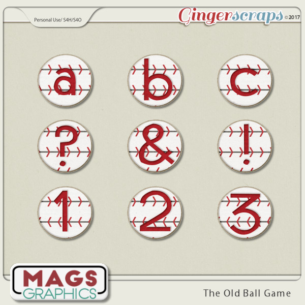 Old Ball Game ALPHA by MagsGraphics