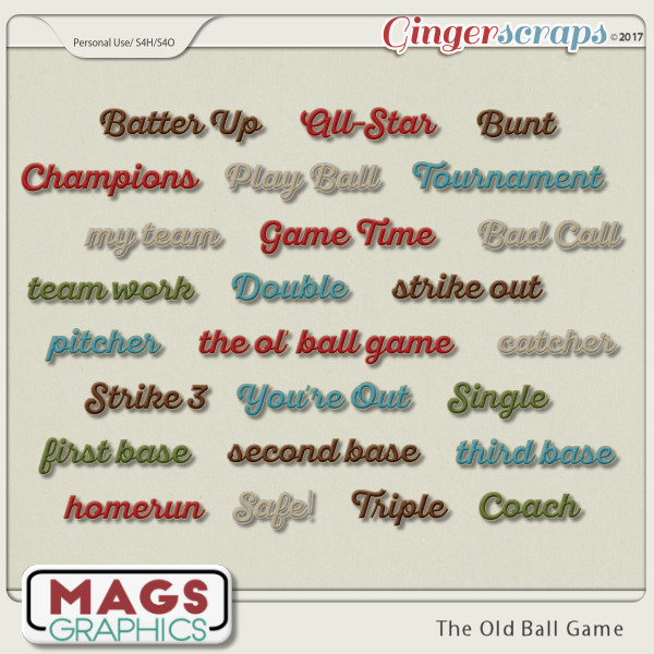 Old Ball Game TITLES by MagsGraphics