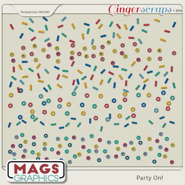 Party On BORDERS by MagsGraphics