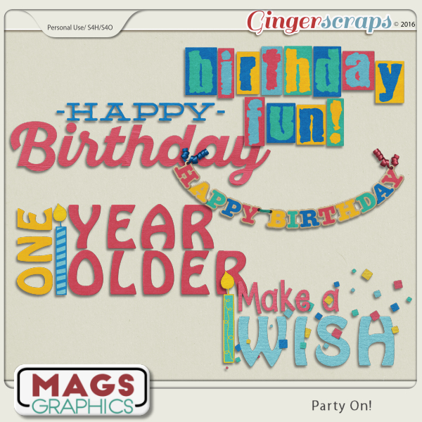 Party On WORD ART by MagsGraphics