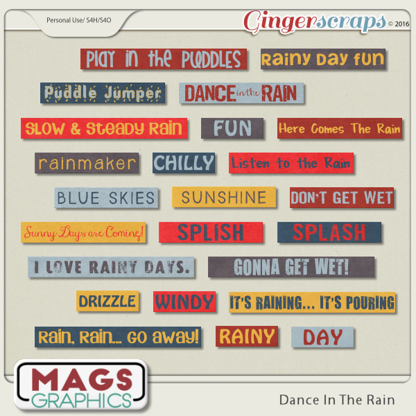 Dance In The Rain WORD TAGS