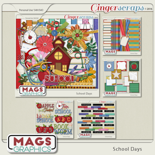 School Days BUNDLE by MagsGraphics