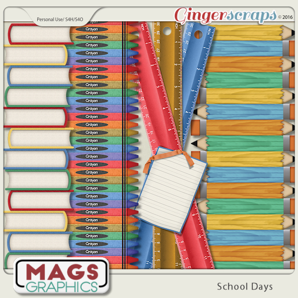 School Days BORDERS by MagsGraphics
